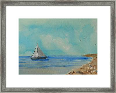 He Leads Me Beside The Still Waters Framed Print by Barbara McNeil