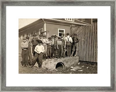 Hine Child Labor, 1913 Framed Print by Granger