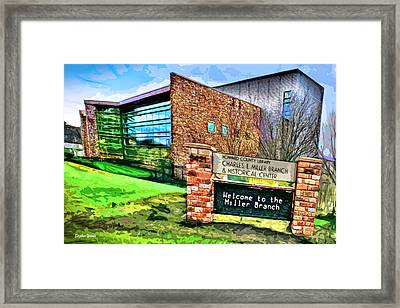 Howard County Library - Miller Branch Framed Print by Stephen Younts