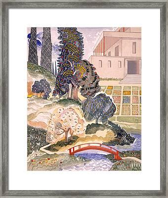 Illustration For Kim By Rudyard Kipling Framed Print by Francois-Louis Schmied