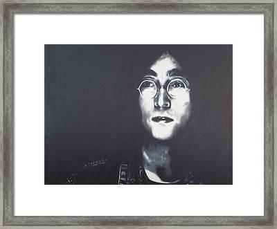 Imagine Framed Print by Luis Ludzska