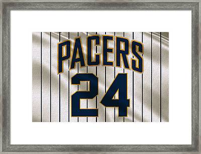 Indiana Pacers Uniform Framed Print by Joe Hamilton