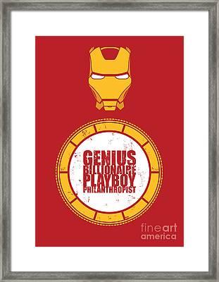 Iron Man Framed Print by Caio Caldas