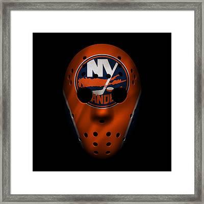 Islanders Jersey Mask Framed Print by Joe Hamilton