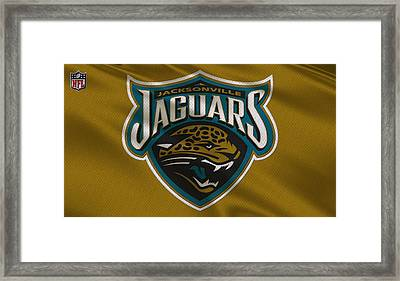 Jacksonville Jaguars Uniform Framed Print by Joe Hamilton