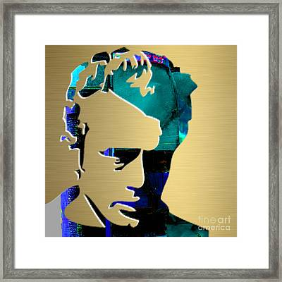 James Dean Gold Series Framed Print by Marvin Blaine