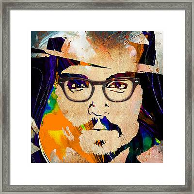 Johnny Depp Collection Framed Print by Marvin Blaine
