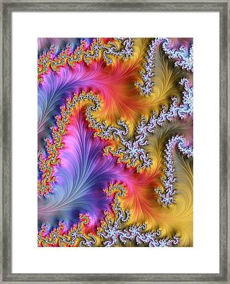 Julia Fractal Framed Print by Alfred Pasieka