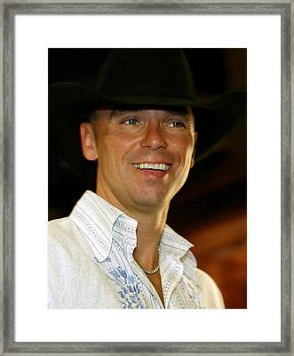 Kenny Chesney Framed Print by Don Olea