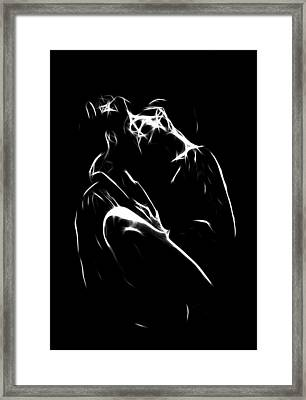 Kiss Me Framed Print by Steve K