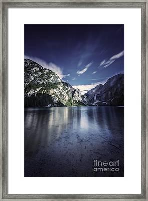 Lake Braies And Dolomite Alps, Northern Framed Print by Evgeny Kuklev