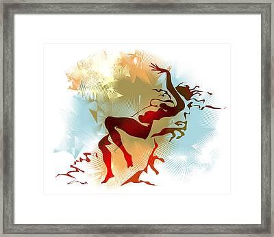 Leda Framed Print by Alex Tavshunsky
