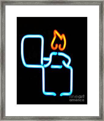 Lighter Framed Print by Kelly Awad
