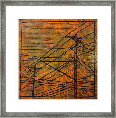 Lines Framed Print by William Cauthern