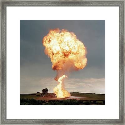 Liquid Petroleum Gas Tank Failure Testing Framed Print by Crown Copyright/health & Safety Laboratory Science Photo Library