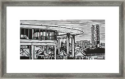 Long Center Framed Print by William Cauthern