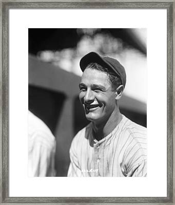 Lou Gehrig New York  Framed Print by Retro Images Archive