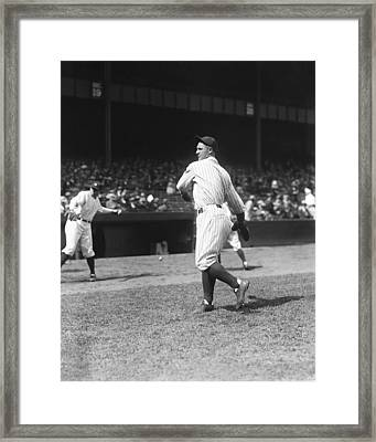 Lou Gehrig Yankees Framed Print by Retro Images Archive