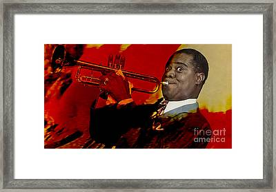 Louis Armstrong Framed Print by Marvin Blaine
