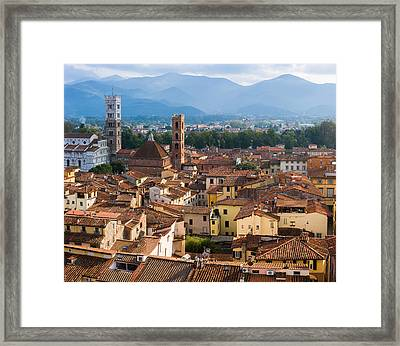 Lucca Italy Framed Print by Carl Amoth