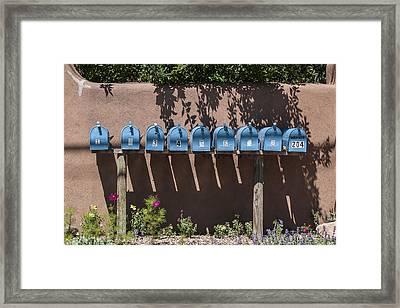 Mailboxes Santa Fe Nm Framed Print by David Litschel