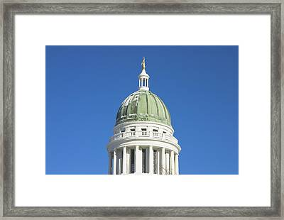 Maine State Capitol Building In Augusta Framed Print by Keith Webber Jr