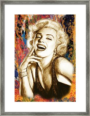 Marilyn Monroe Morden Art Drawing Poster Framed Print by Kim Wang