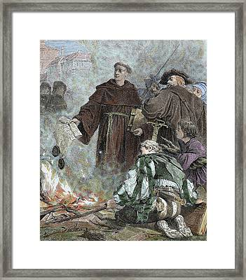 Martin Luther (eisleben, 1483 Framed Print by Prisma Archivo