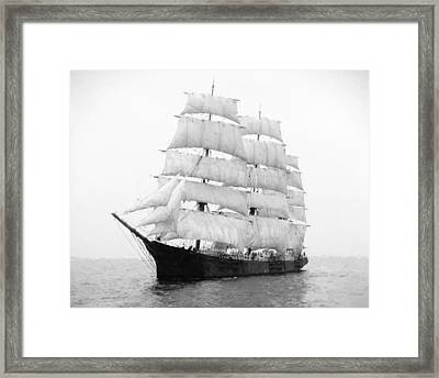 3 Masted Ship Mary L. Cushing Framed Print by Daniel Hagerman
