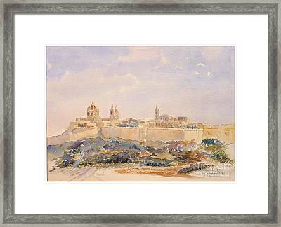 Mdina Skyline Framed Print by Godwin Cassar