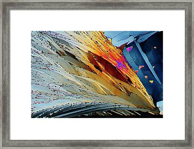 Metformin Drug Crystals Framed Print by Antonio Romero