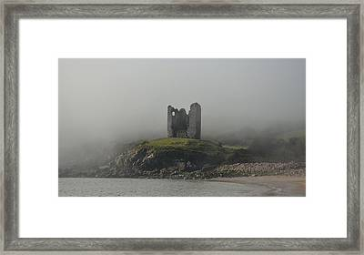 Minard Castle Framed Print by Barbara Walsh
