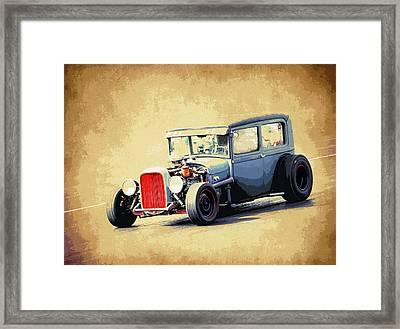 Model A Sedan Framed Print by Steve McKinzie
