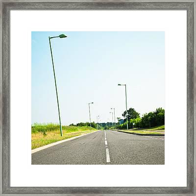 Modern Road Framed Print by Tom Gowanlock