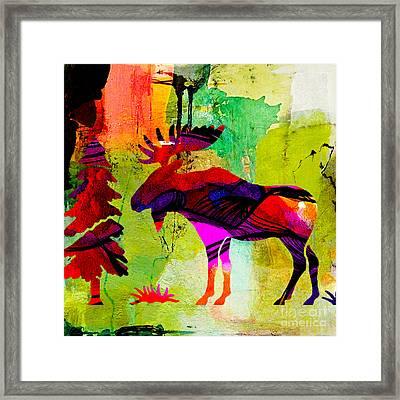 Moose Framed Print by Marvin Blaine