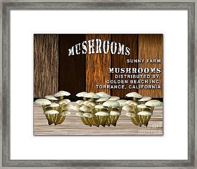 Mushroom Farm Framed Print by Marvin Blaine