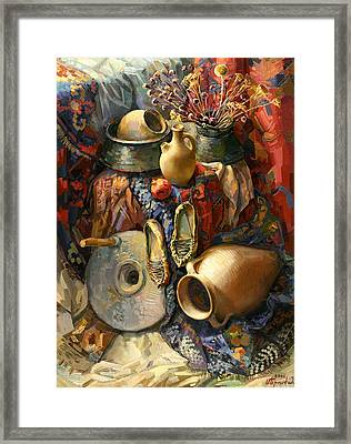National Armenian Still-life Framed Print by Meruzhan Khachatryan