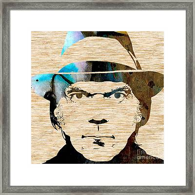 Neil Young Framed Print by Marvin Blaine