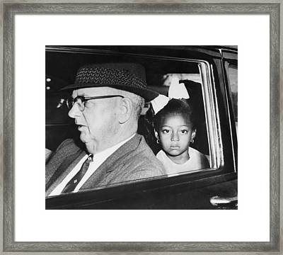 New Orleans School Integration Framed Print by Underwood Archives