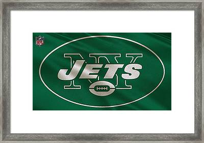 New York Jets Uniform Framed Print by Joe Hamilton