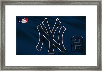 New York Yankees Derek Jeter Framed Print by Joe Hamilton