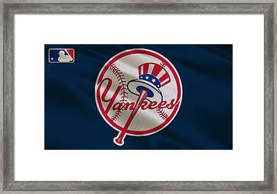 New York Yankees Uniform Framed Print by Joe Hamilton