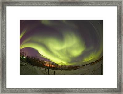 Northern Lights, Edmonton, Alberta Framed Print by Carson Ganci