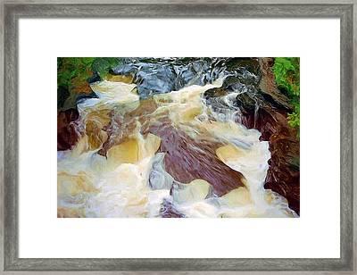 Oak Leaf Fall Framed Print by Pat Now