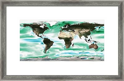 Ocean-atmosphere Co2 Exchange Framed Print by Noaa