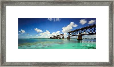 Old Bahia Honda Bridge Florida Keys Framed Print by Hans J Leschmann