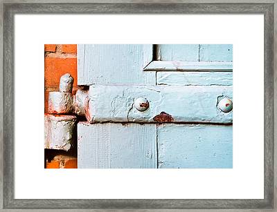 Old Hinge Framed Print by Tom Gowanlock