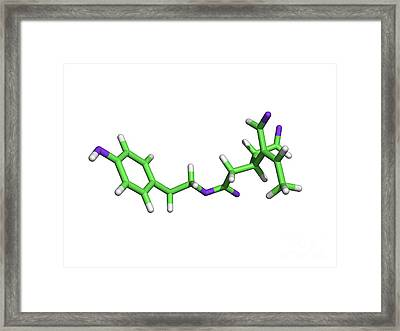 Oleocanthal Olive Oil Molecule Framed Print by Dr. Tim Evans