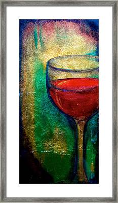 One More Glass Framed Print by Debi Starr