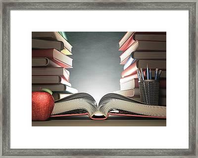 Open Book Framed Print by Ktsdesign